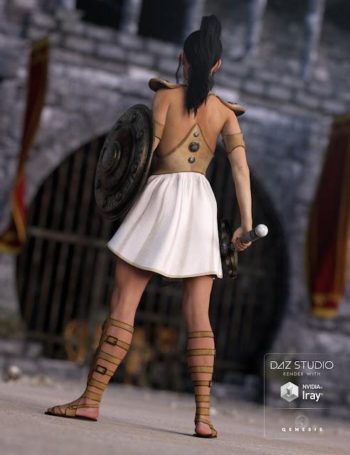 Gladiator Goddess for Genesis 3 Female