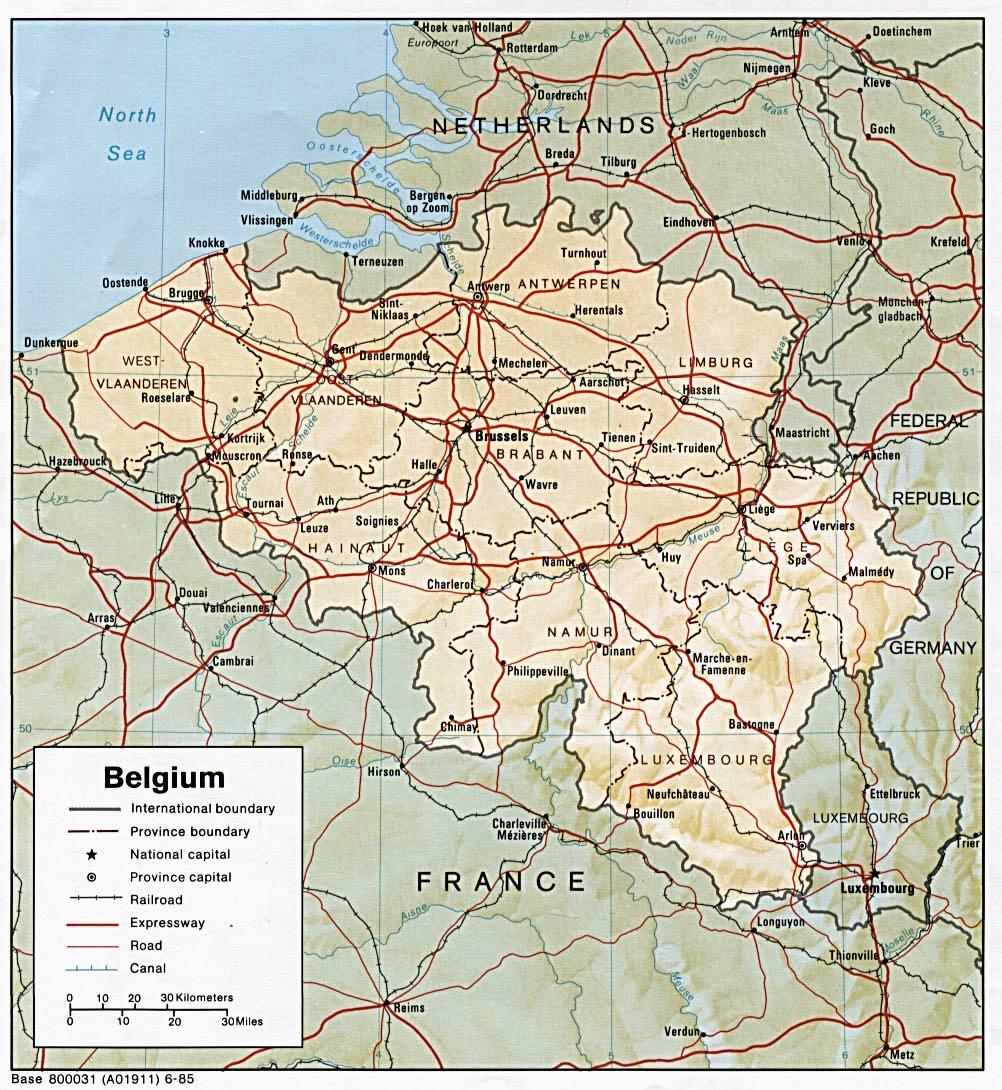Kaart Belgie Vakantie Kaart Belgie Vakantie Provincies