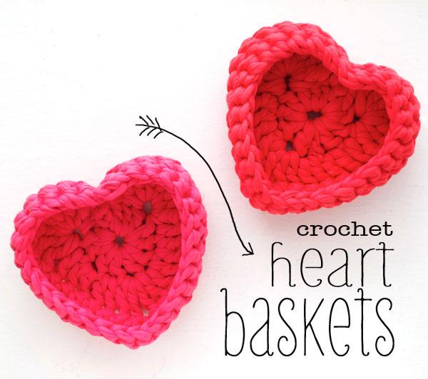 Ergahandmade Crochet Heart Baskets Diagram Free Pattern Step By