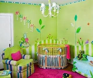 Habitaciones de beb en color verde  Dormitorios colores
