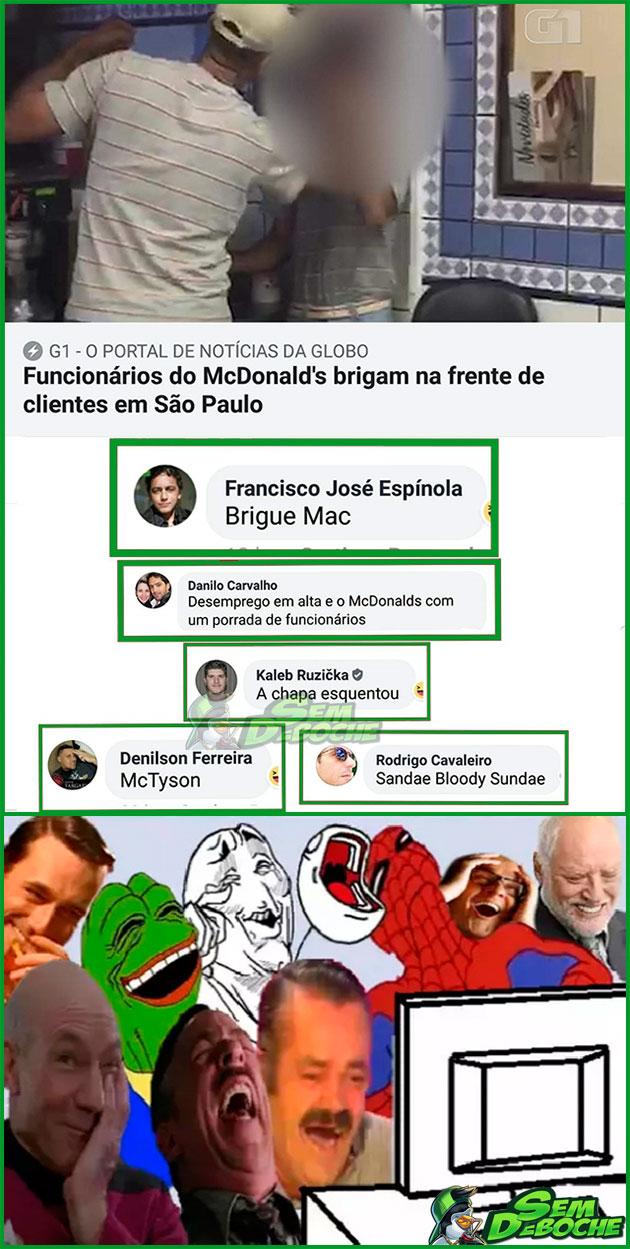 NOVOS NOMES PROS LANCHES DO MCDONALD'S