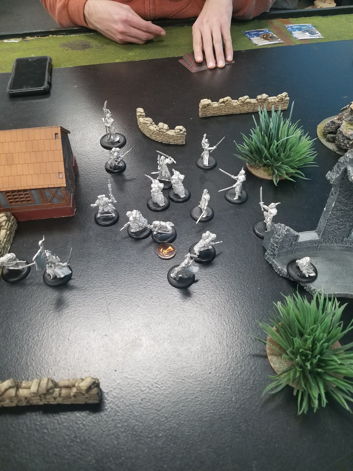 A little bit before we called it- a few Trenchers are about to charge the Ancestral Guardian with Assault, but won't get it done. My Swordsmen will, against some of those Trenchers