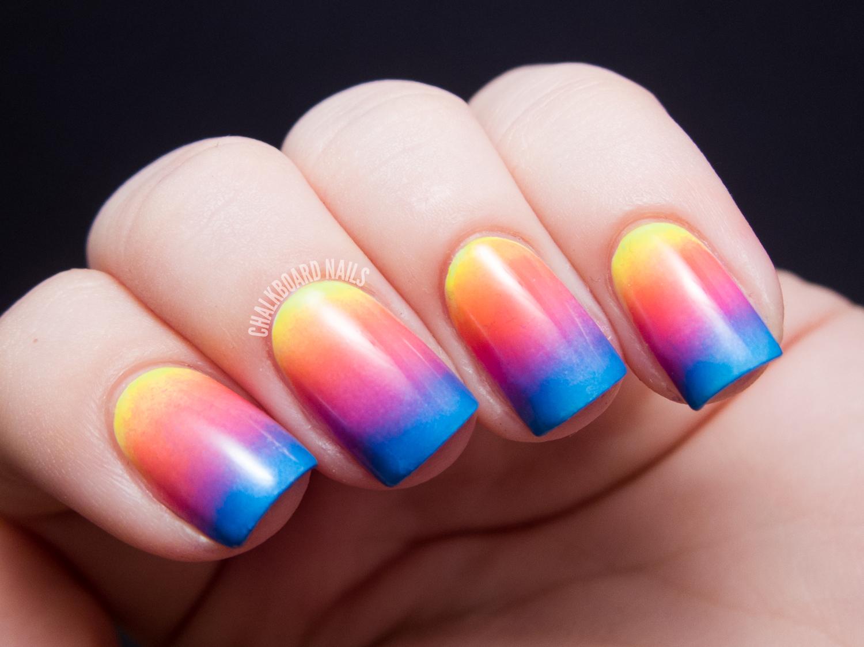 Sunset Gradient Maze Patterned Nails Chalkboard Nails Nail Art Blog