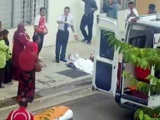 Pelajar cuba bantu ambil beg rakan maut jatuh bangunan sekolah