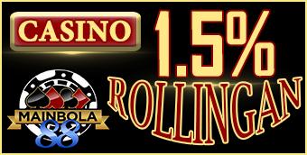 Casino Bonus 1.5% Rollingan