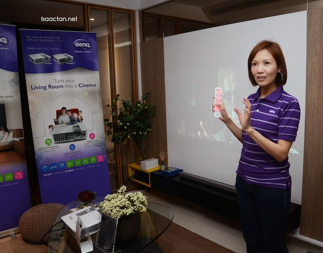 Real time experience during the BenQ Home Cinema tour
