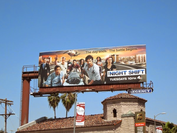 Night Shift series launch billboard