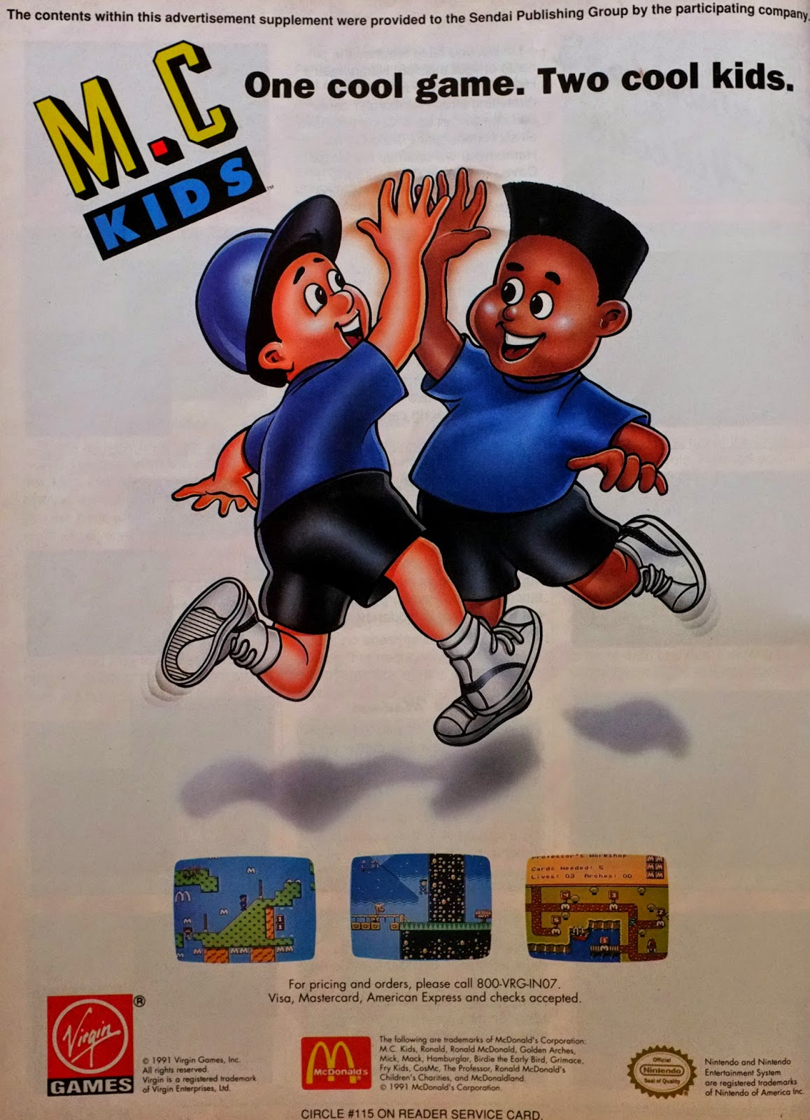 McKids for NES advertisement