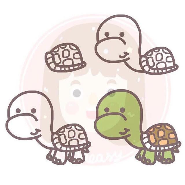 Cara menggambar kura-kura untuk anak-anak