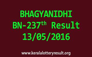 BHAGYANIDHI BN 237 Lottery Result 13-5-2016
