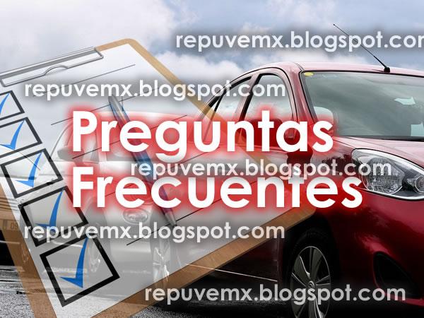 Preguntas Frecuentes del Repuve registro Publico Vehicular por aplicacion