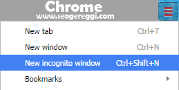 New Incognito Window - Chrome
