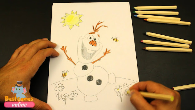 Olaf Frozen Coloring Pages  How To Draw Olaf  Frozen Coloring Book   Youtube