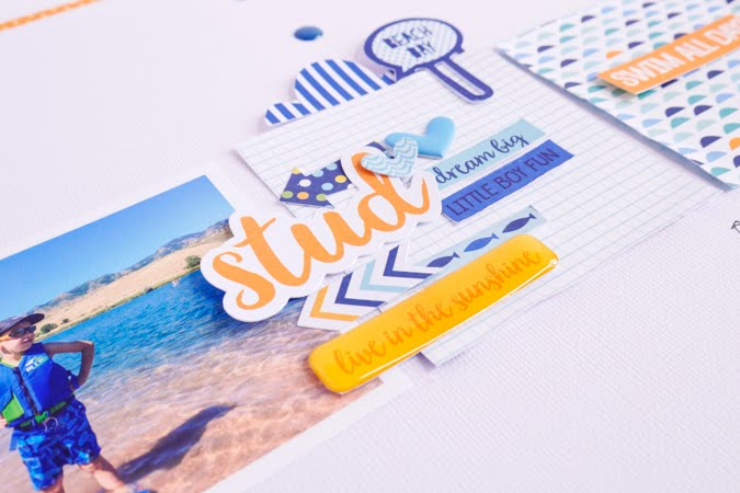 How To Scrapbook a Stud by Jamie Pate for Bella Blvd  |  @jamiepate for @bellablvd