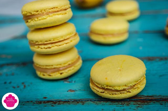 Macarons au citron - crème de citron