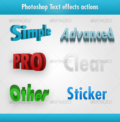 Photoshop Awesome Text Effects Actions - GraphicRiver, Photoshop Stuff, Photoshop Actions