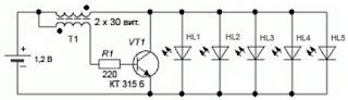 светодиодный фонарик инвертор