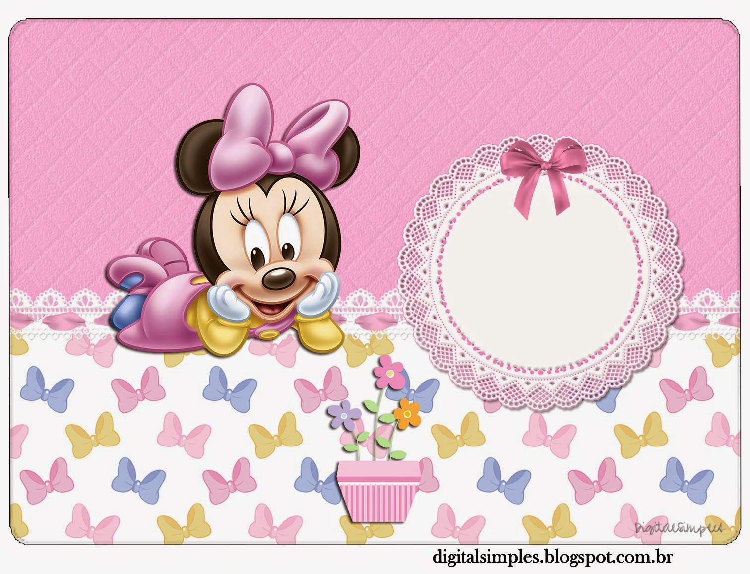 Minnie Mouse Baby Shower Kit