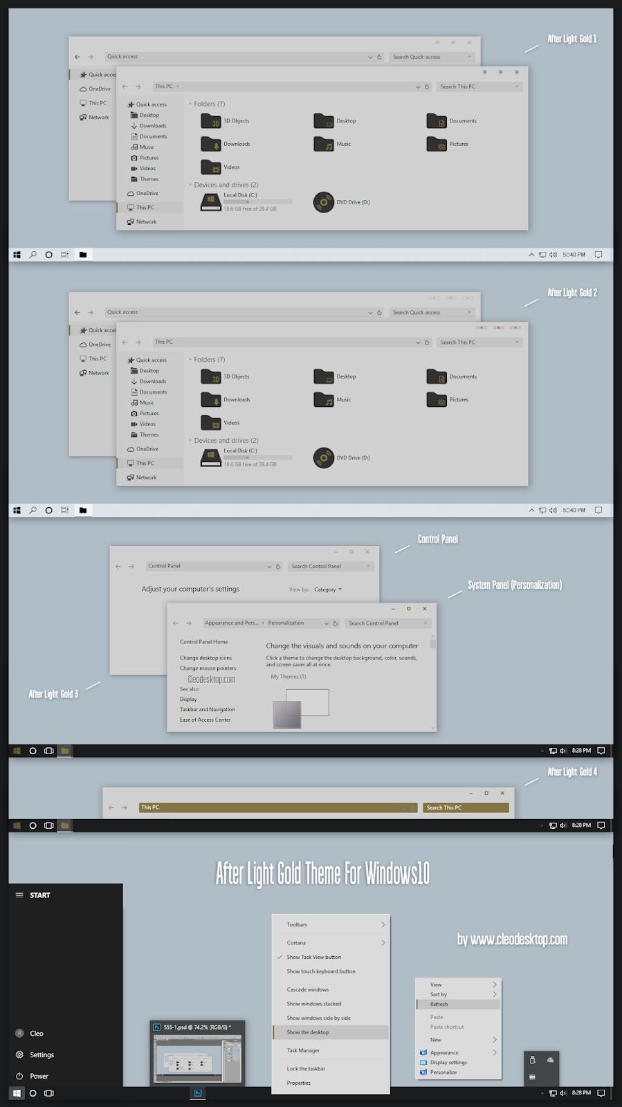 After Light Gold Theme Windows10 November 2019 Update 1909
