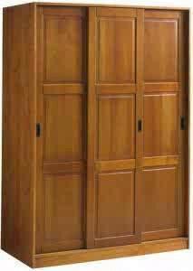 almari pakaian minimalis 3 pintu sliding geser jepara