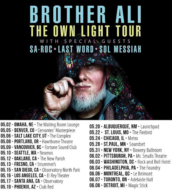 Music Television - Brother Ali May-June 2017 Tour Dates