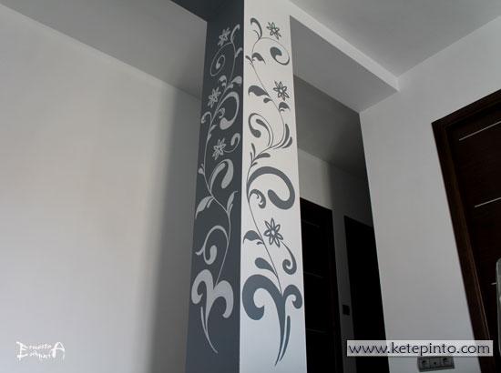 Ernesto arag n pintura para el hogar una idea para - Decorar columnas salon ...