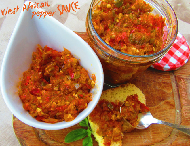 West African pepper sauce by Laka kuharica: hot, versatile West African sauce can be used as a condiment, dip, or appetizer.