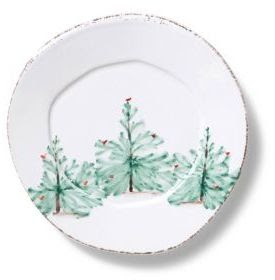 Holiday icon plates u2013 I can see these appetizer plates at a u201chipu201d party.  sc 1 st  Petite Haus & Christmas China - Plates and Dinnerware - Petite Haus