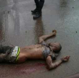A man knocked down by a car in Enugu State