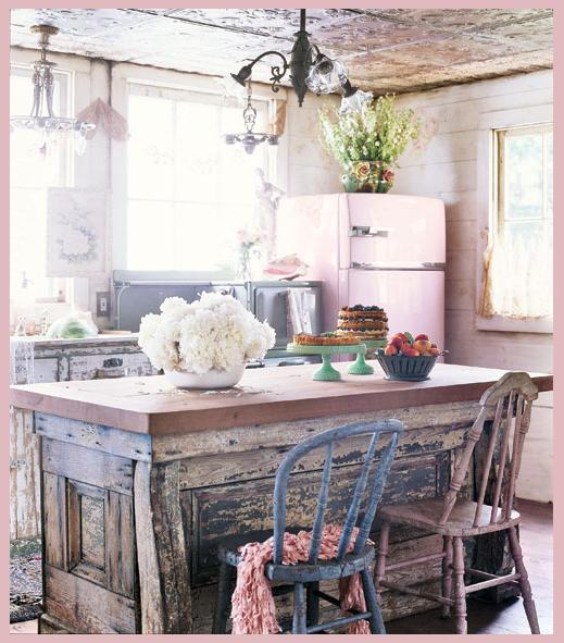 Shabby Chic Kitchen Table Centerpieces: Rooms Of Inspiration: Shabby Chic Cottage Kitchen