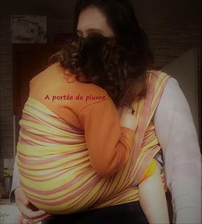 portage allaitement écharpe portage ling ling d'amour LLA port'allaitement