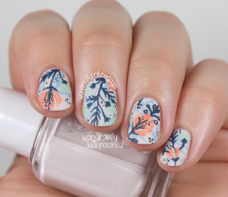 Floral Nail Art: Wondrously Polished: A Floral Dud