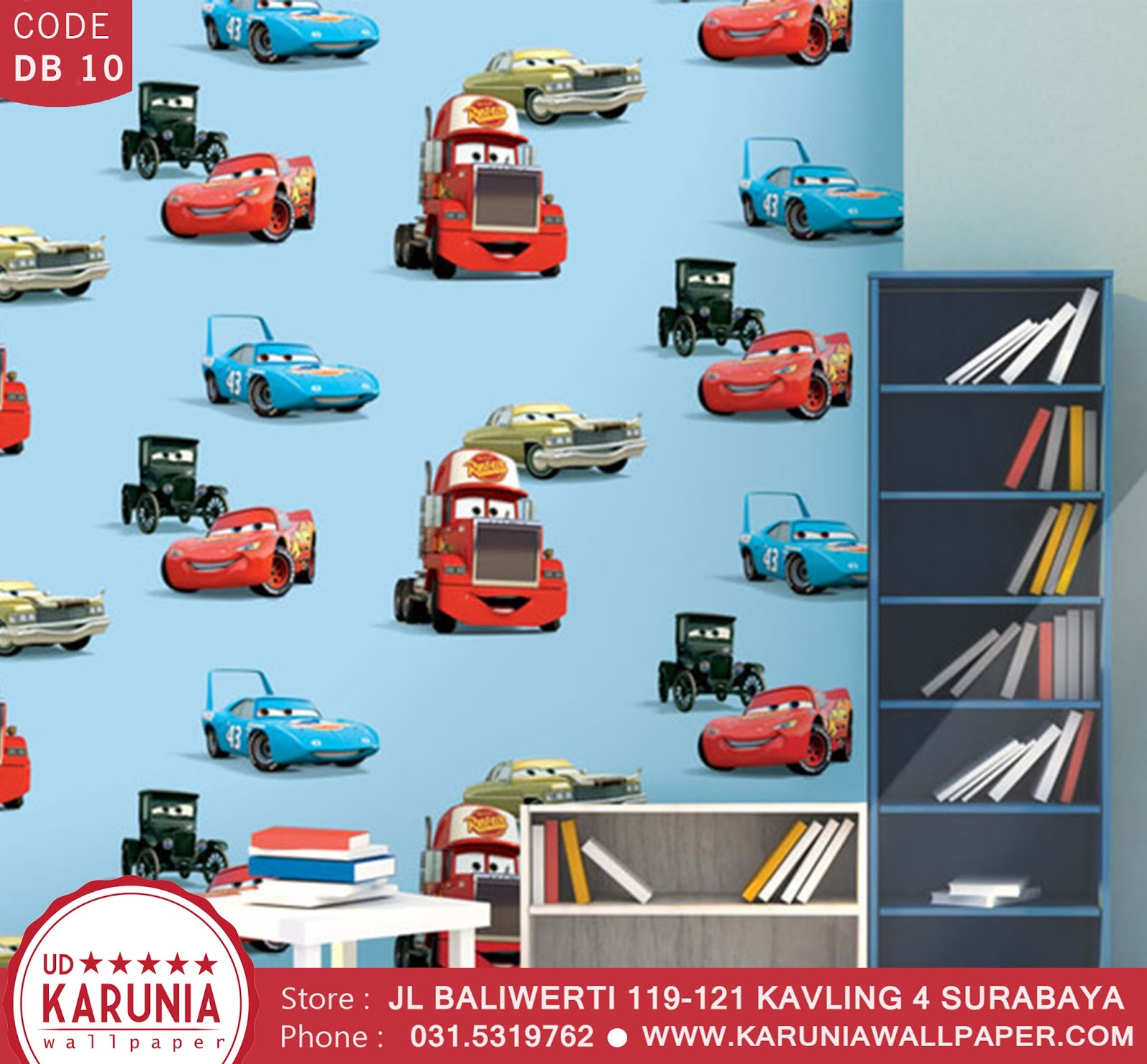 jual wallpaper dinding cars disney