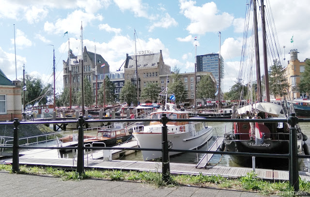 Rotterdam ships and boats docked