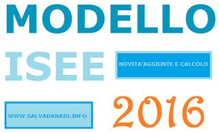 Compilazione modello ISEE 2016 e calcolo online