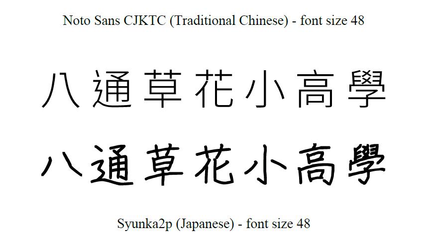 Another Random Thought of a Procrastinator : Noto Sans CJK is not