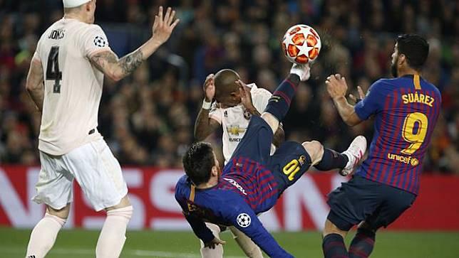Messi Akui Barcelona Sempat Gugup saat Menghadapi Manchester United