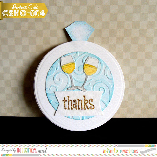 Ring Shaped Thank You Cards | How to make cards in Bulk