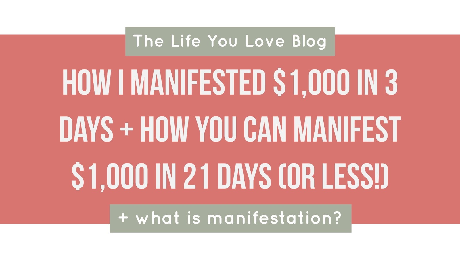 Workbooks receiving love workbook : How I Manifested $1,000 In 3 Days + How You Can, Too - The Life ...