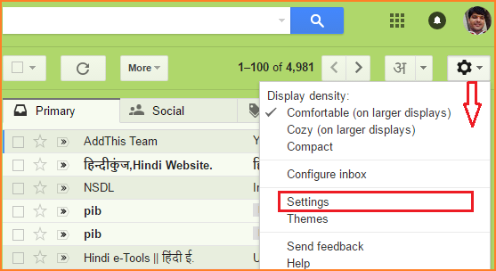 enable undo send mail feature in gmail