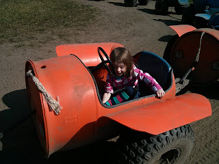 driving tractor