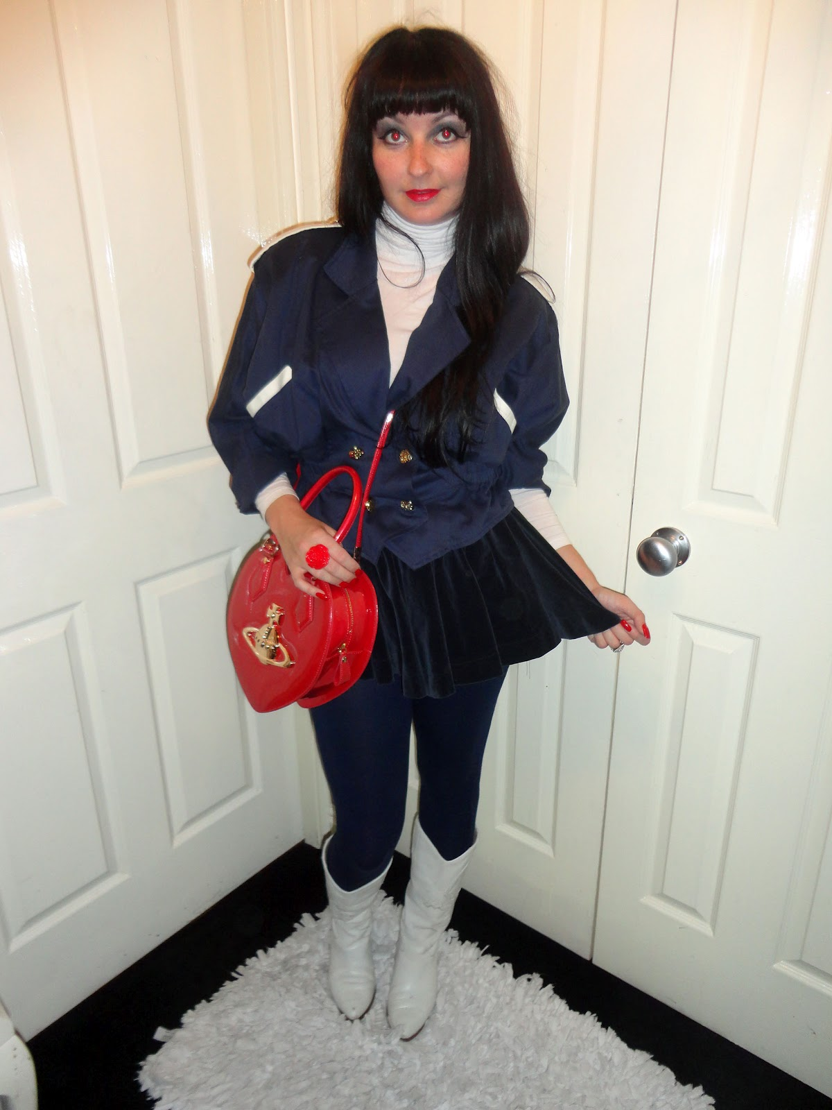 2e58107426 I wore this red, white and blue little number for the queens jubilee, which  consists of some navy leggings, a cream polo neck top, which I teamed with  some ...