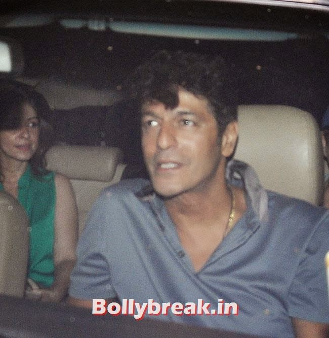 Bhawna Pandey and Chunky Pandey, Celebs at Heropanti Special Screening