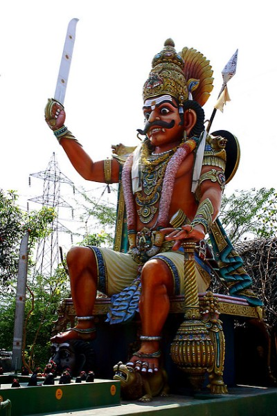 Hindu lord ayyanar picture