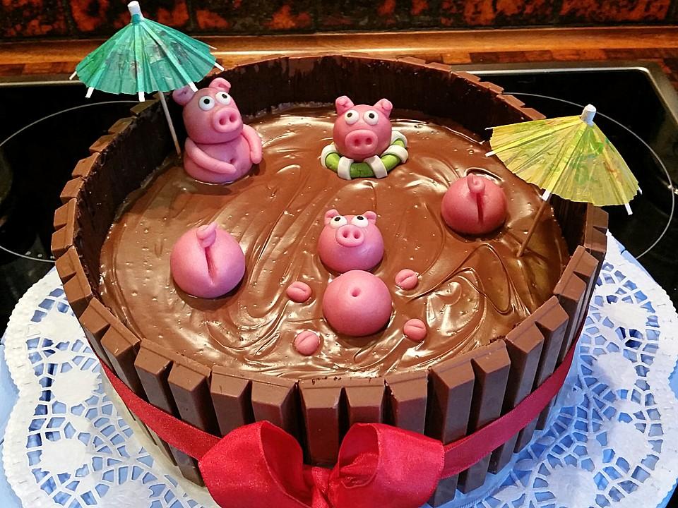 Backen Kochen Geniessen Schweinchen Im Matschkubel Torte