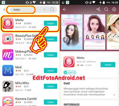 Download Apk Meitu Android Full Packs via 9Apps gratis free version