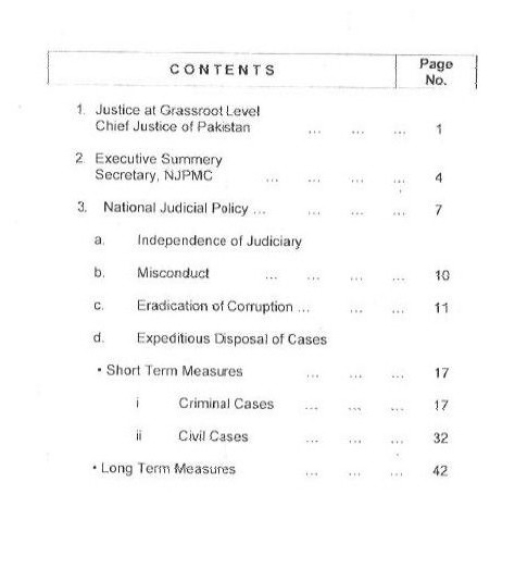 Book in PDF Pakistan National Judicial Policy