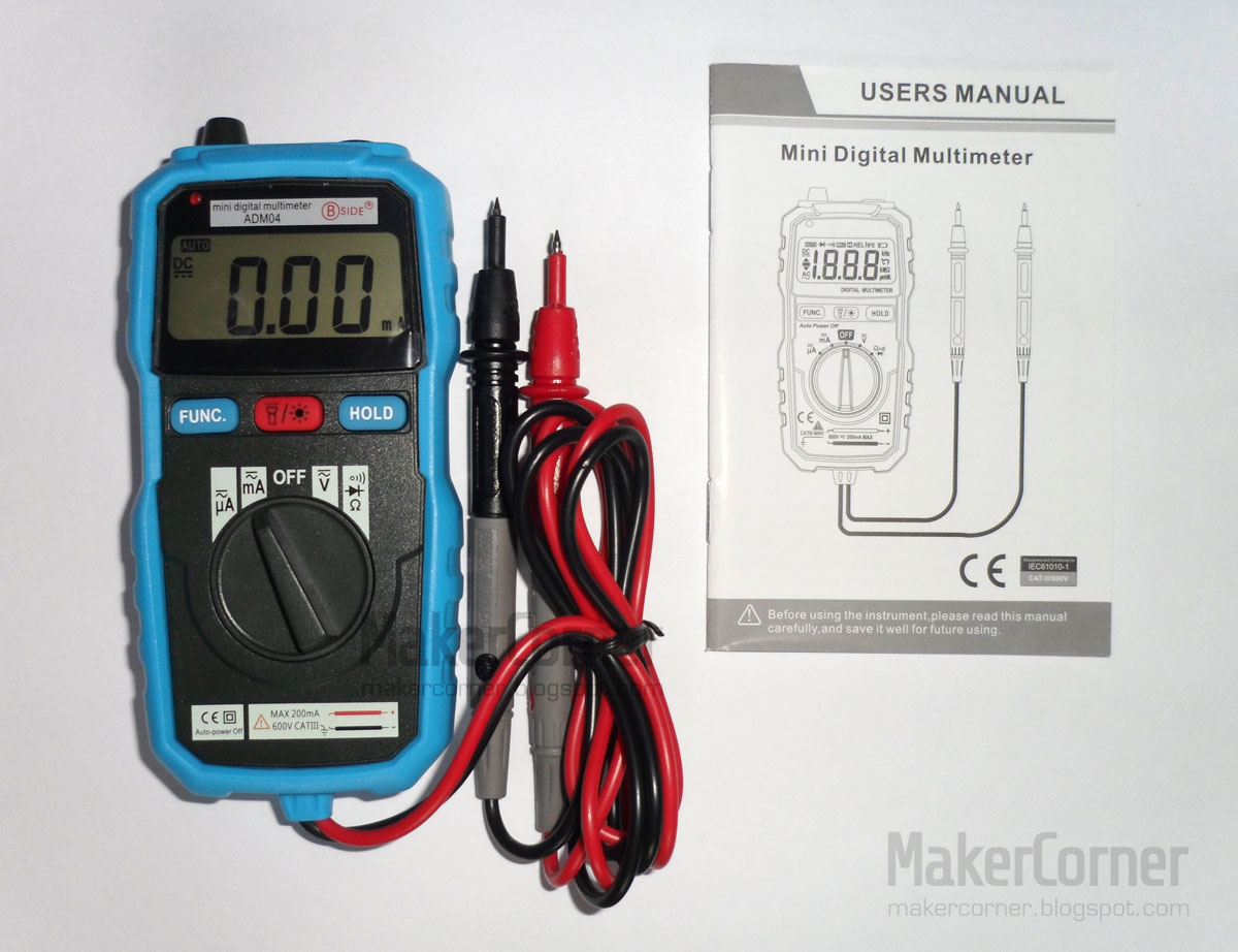 Maker Corner: BSide ADM04 Mini Multimeter Review & Teardown