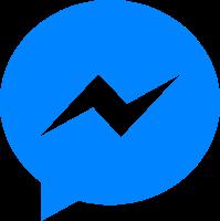 ícone do messengem em azul