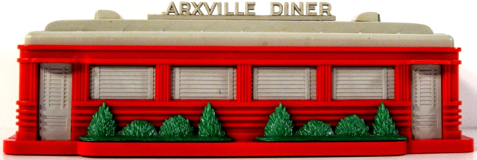Toys And Stuff Marxville Diner Red With Gray Roof